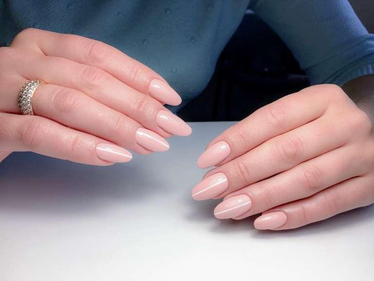 gel skin color nail art