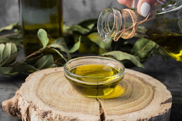 olive oil drop in bowl