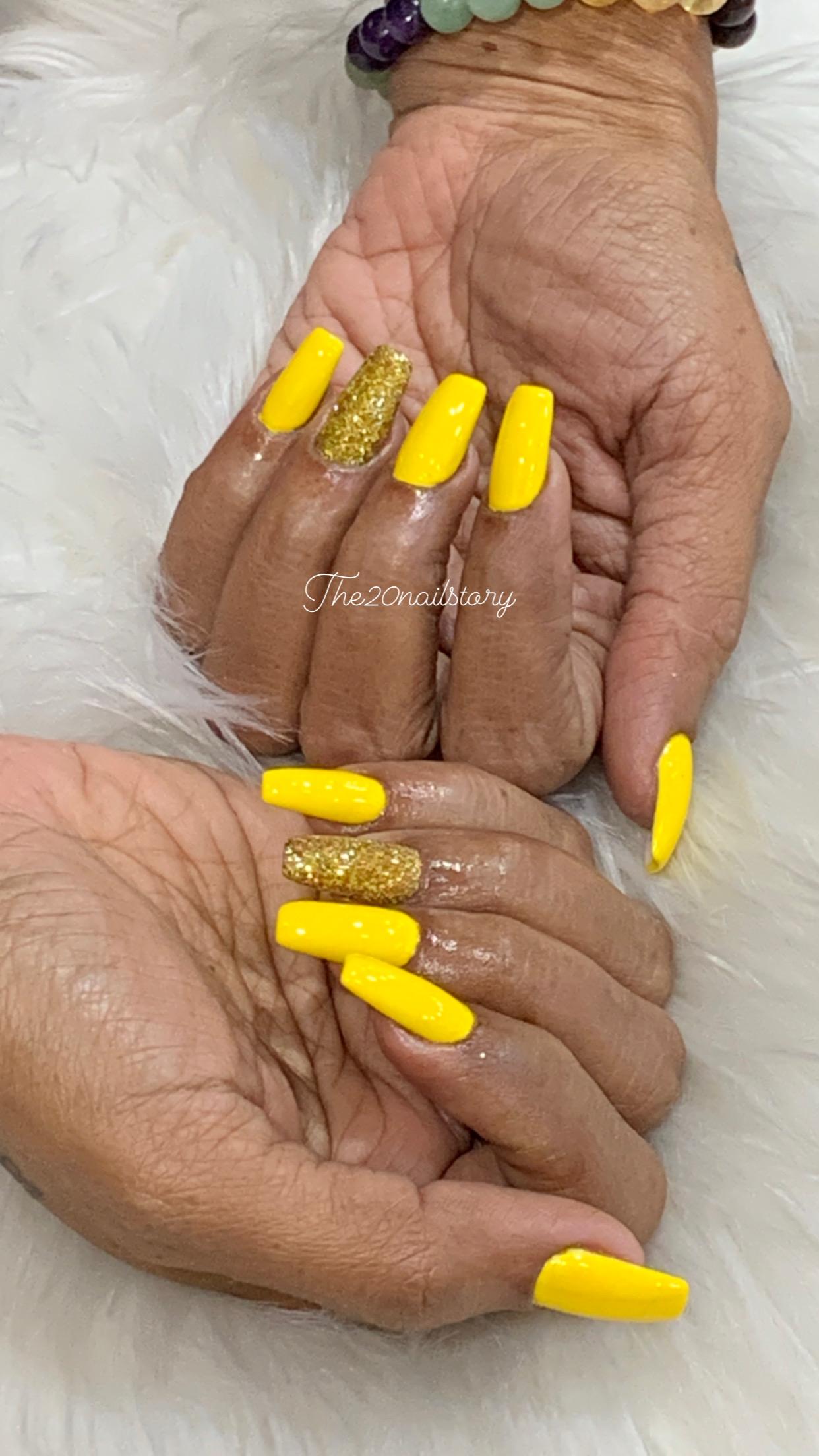 yellow nail extensions in kolkata