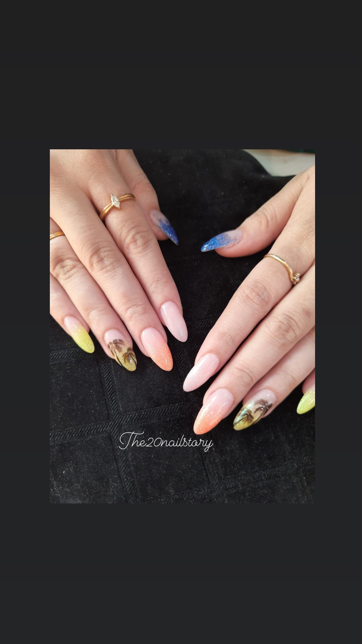 goa beach nail art designs