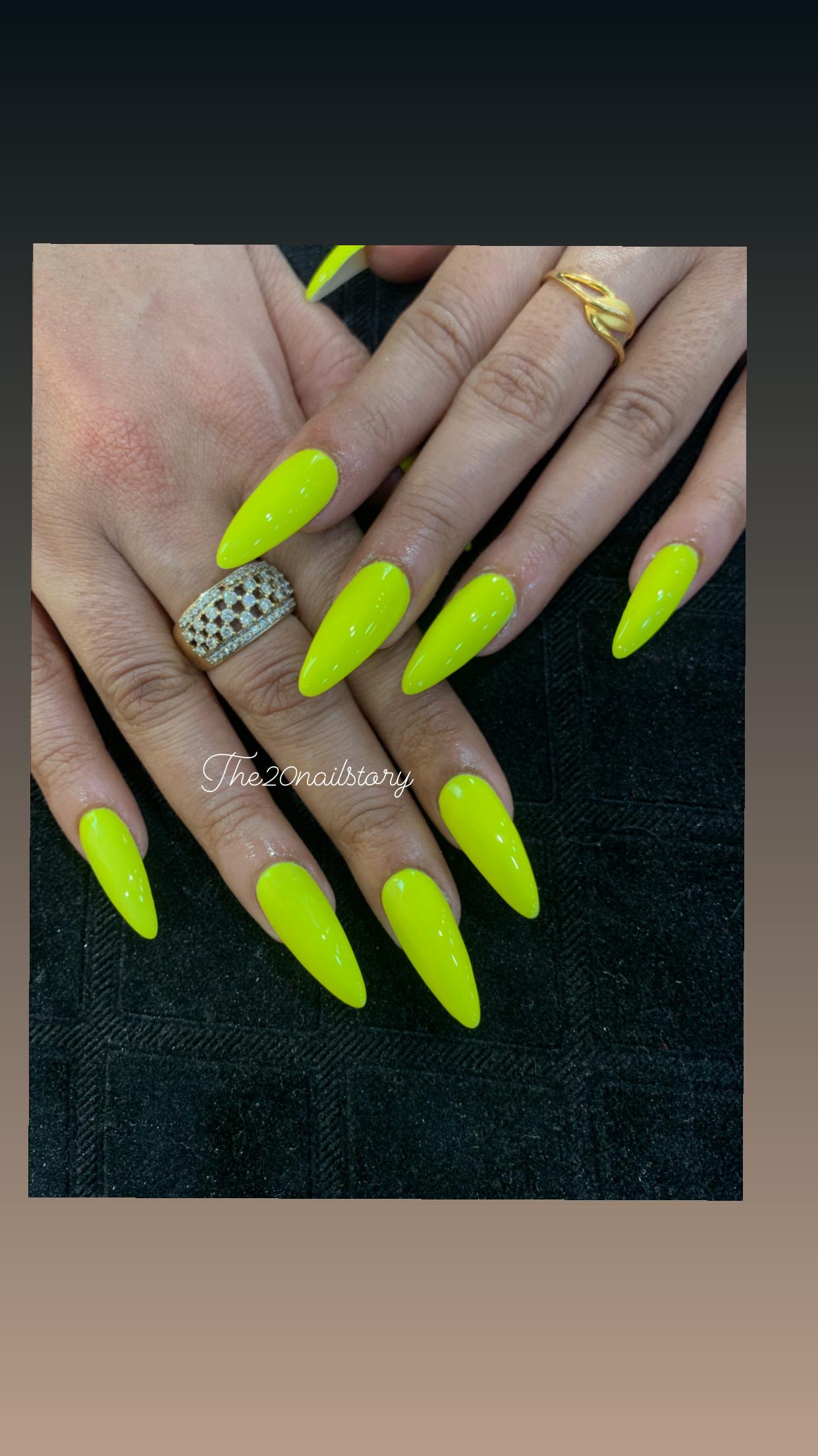 yellow color nail art in kolkata