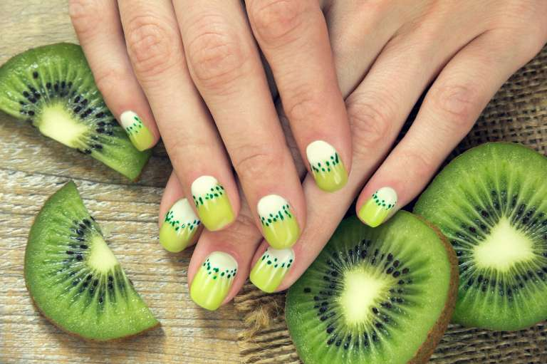 kiwi nail art design