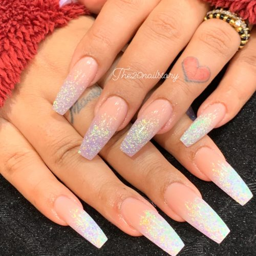 gel sparkle nail art